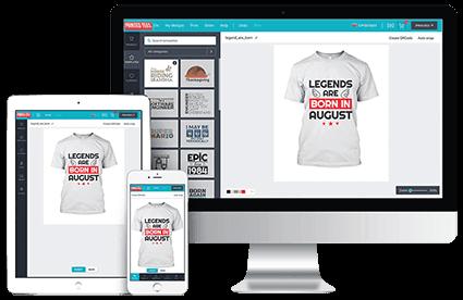 Printed Tees Online Designer