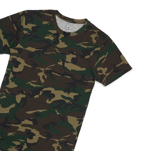 Staple Camo T Shirt Printing